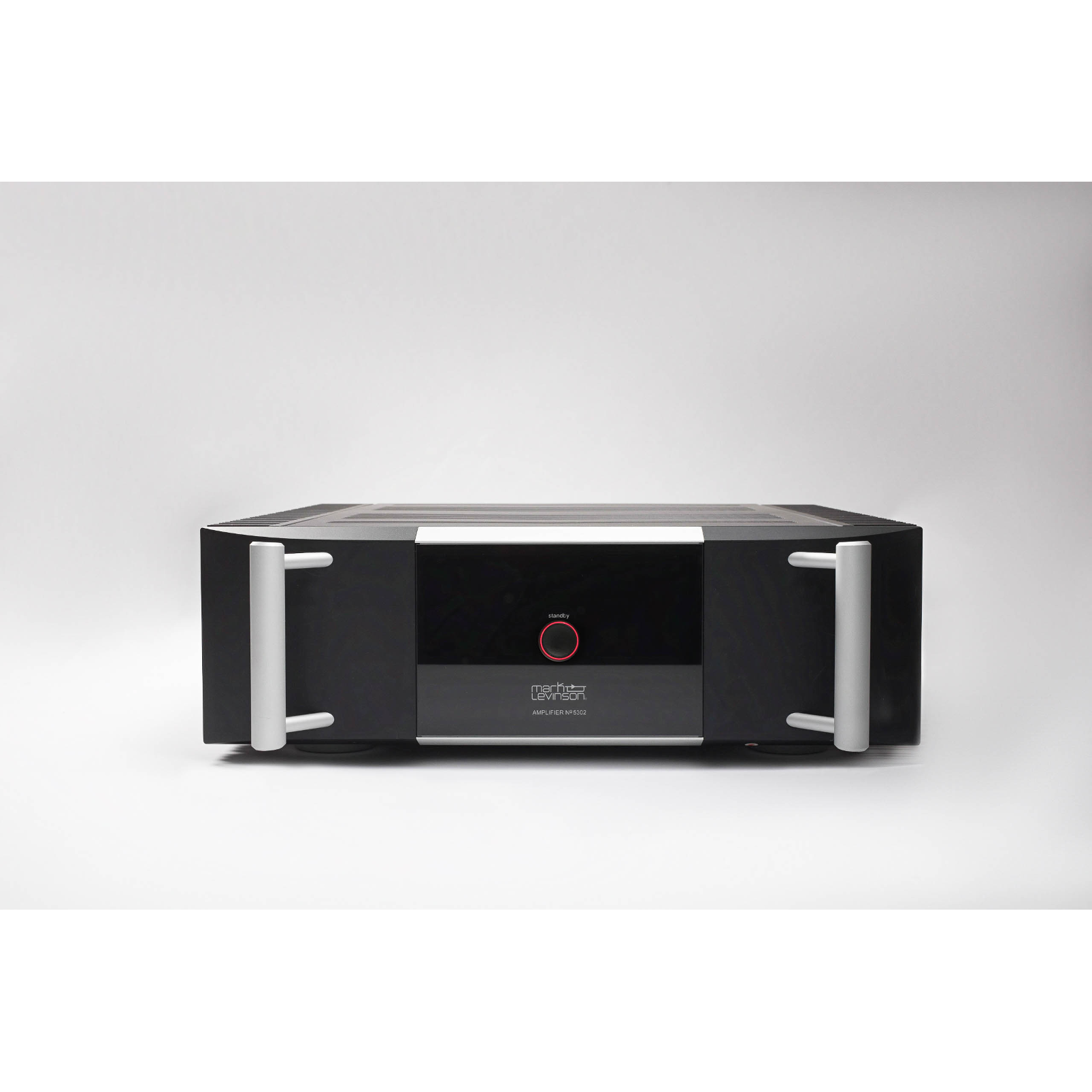 №5302 - Black - Fully-discrete, direct-coupled, dual-monaural, Class AB amplifier - Front