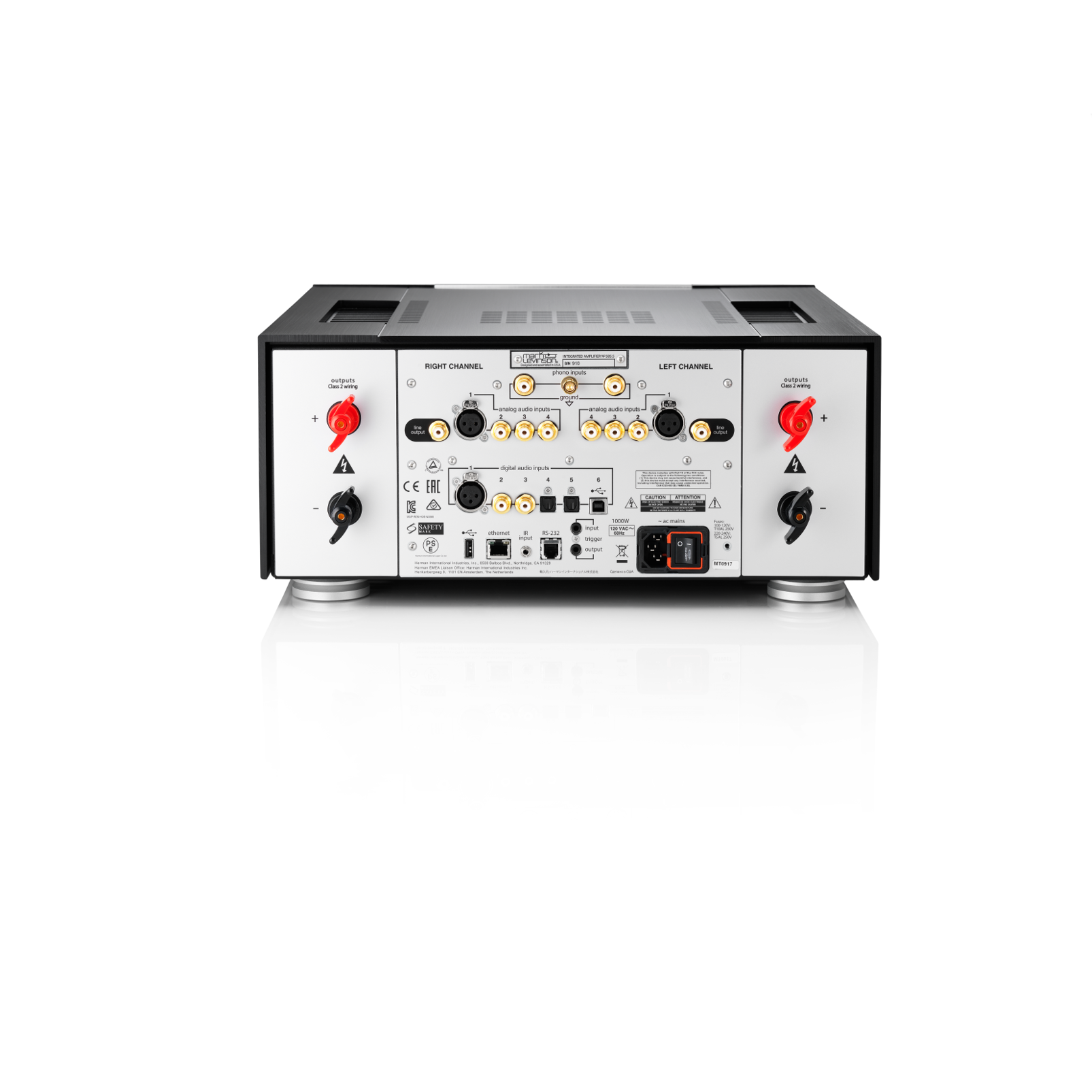 Nº585.5 - Black - Fully Discrete Integrated Amplifier with Class A Pure Phono Stage - Back