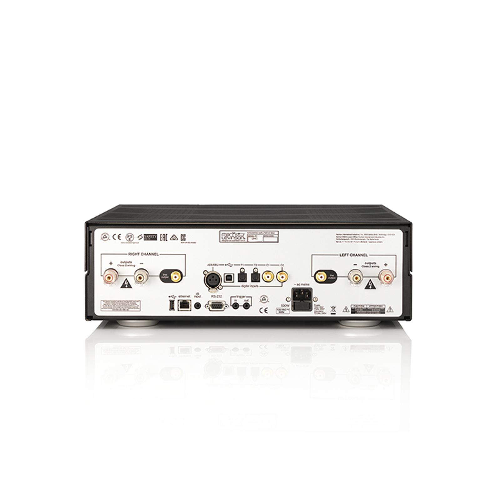 № 5802 - Black / Silver - Integrated Amplifier for Digital sources - Back