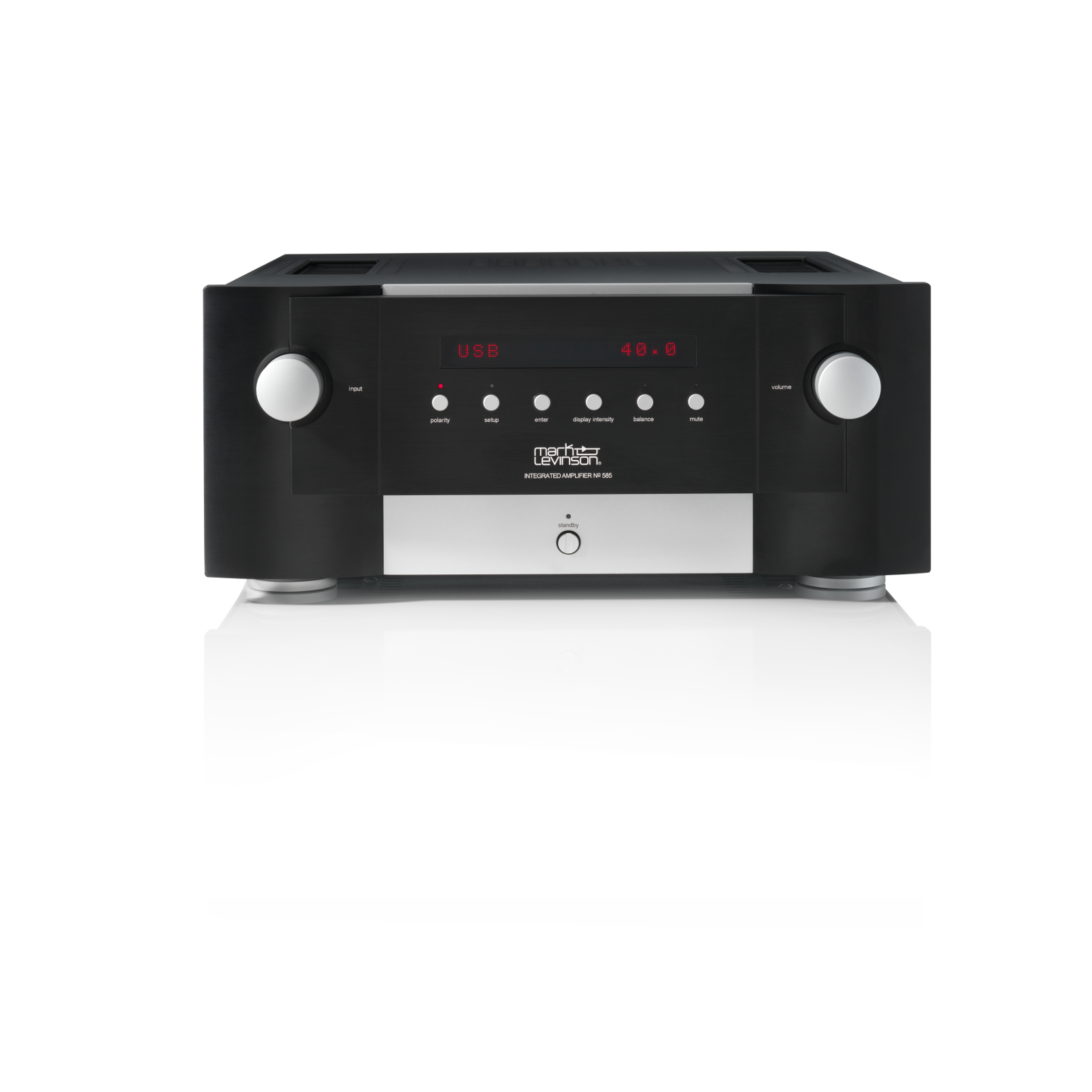 Nº585 - Black - Fully Discrete Integrated Amplifier - Front