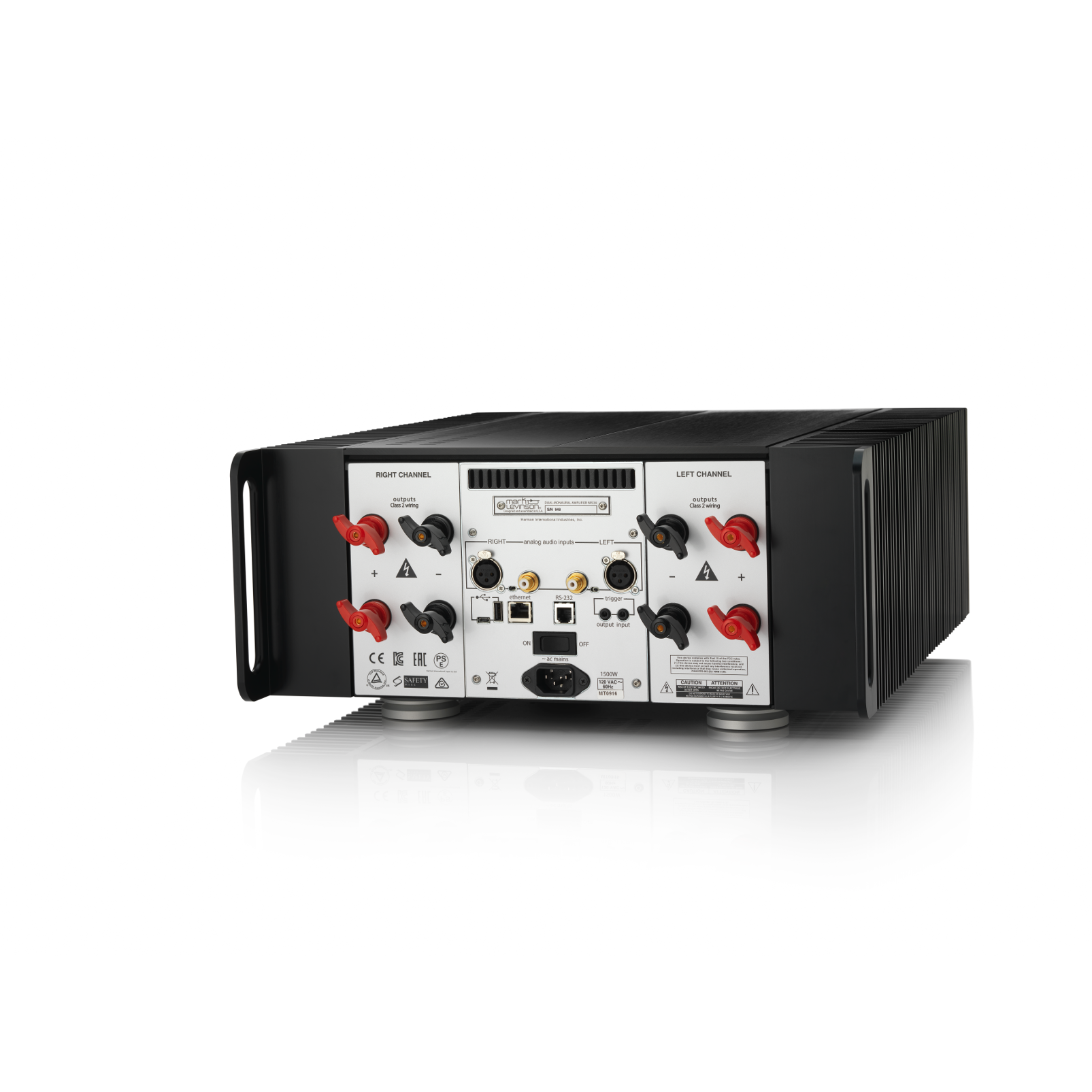 Nº534 - Black - Dual-Monaural Amplifier - Back