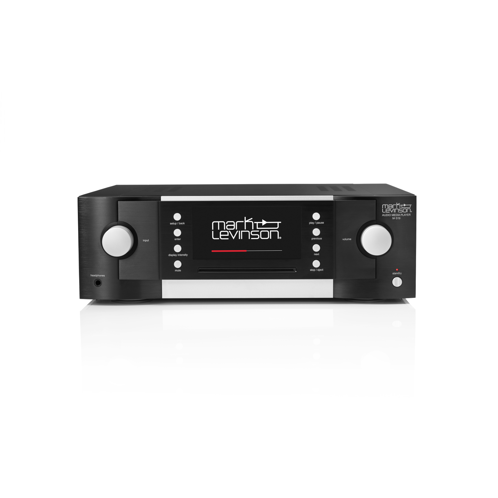 № 519 - Black - Audio Player  - Front