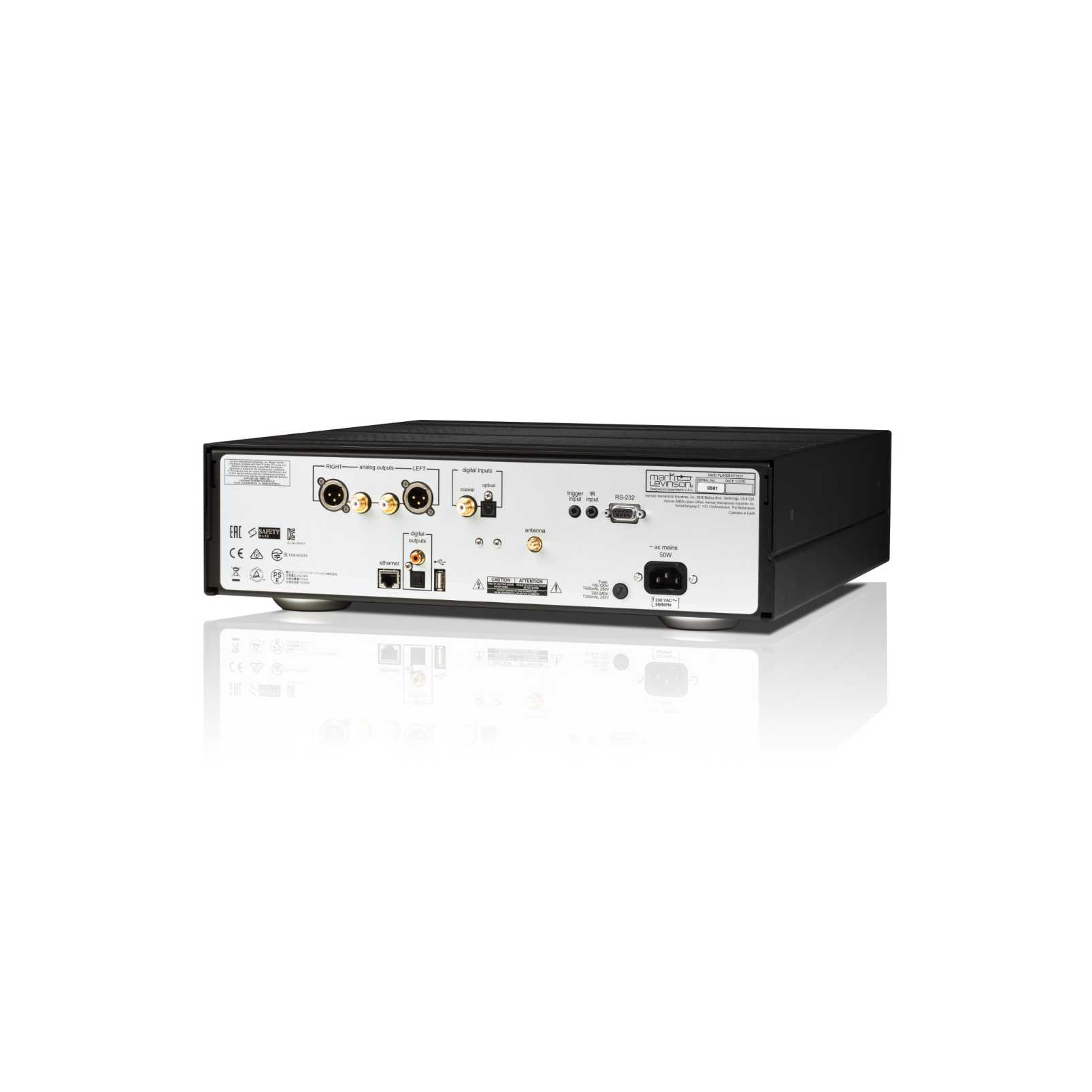 № 5101 - Black - Network Streaming SACD Player and DAC - Back