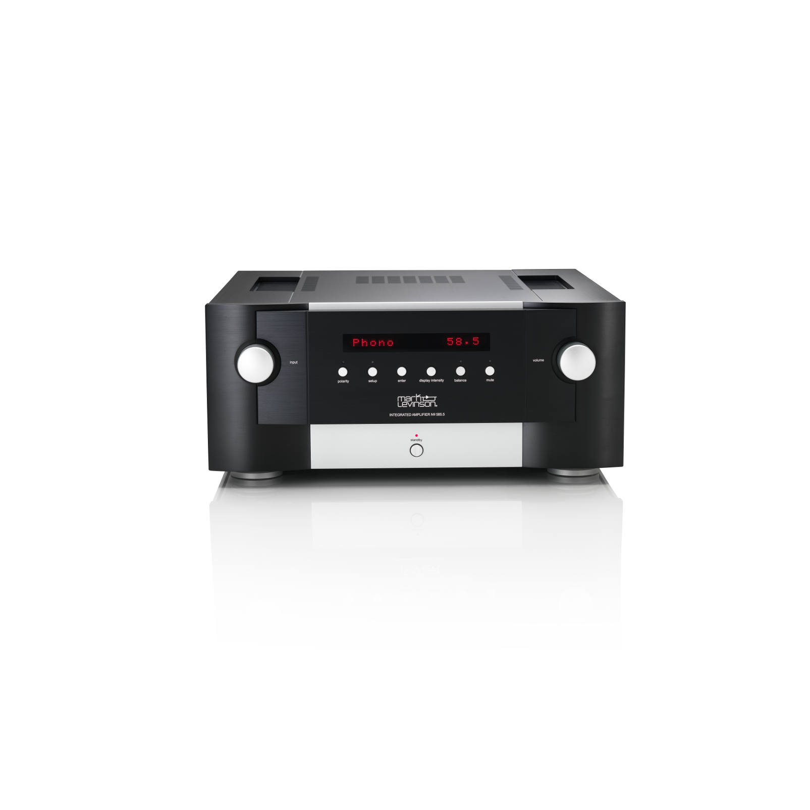 Nº585.5 - Black - Fully Discrete Integrated Amplifier with Class A Pure Phono Stage - Front