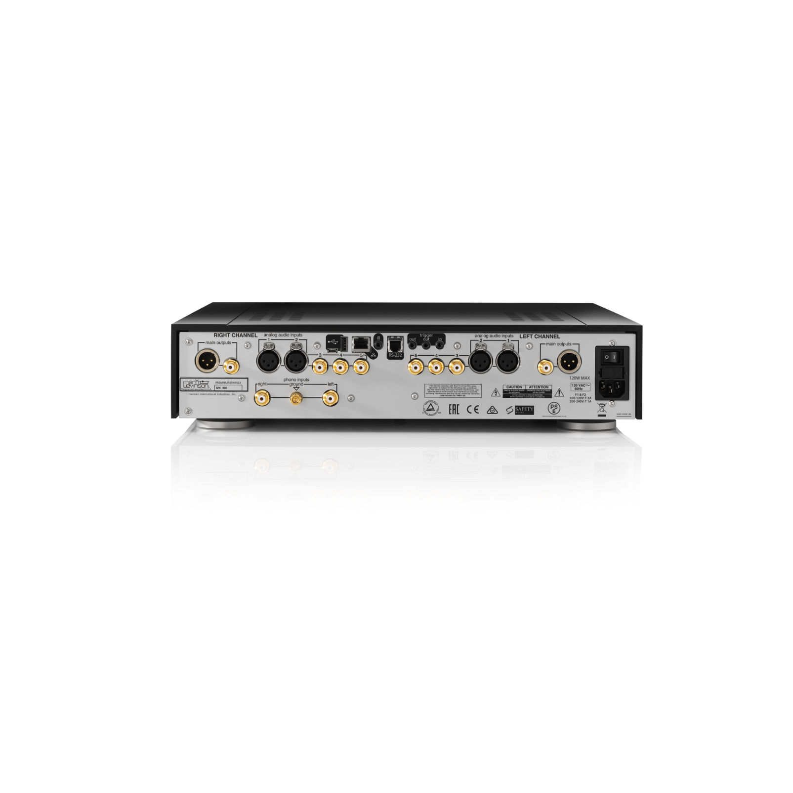 № 523 - Black - Dual-Monaural Preamplifier for Analog Sources - Back