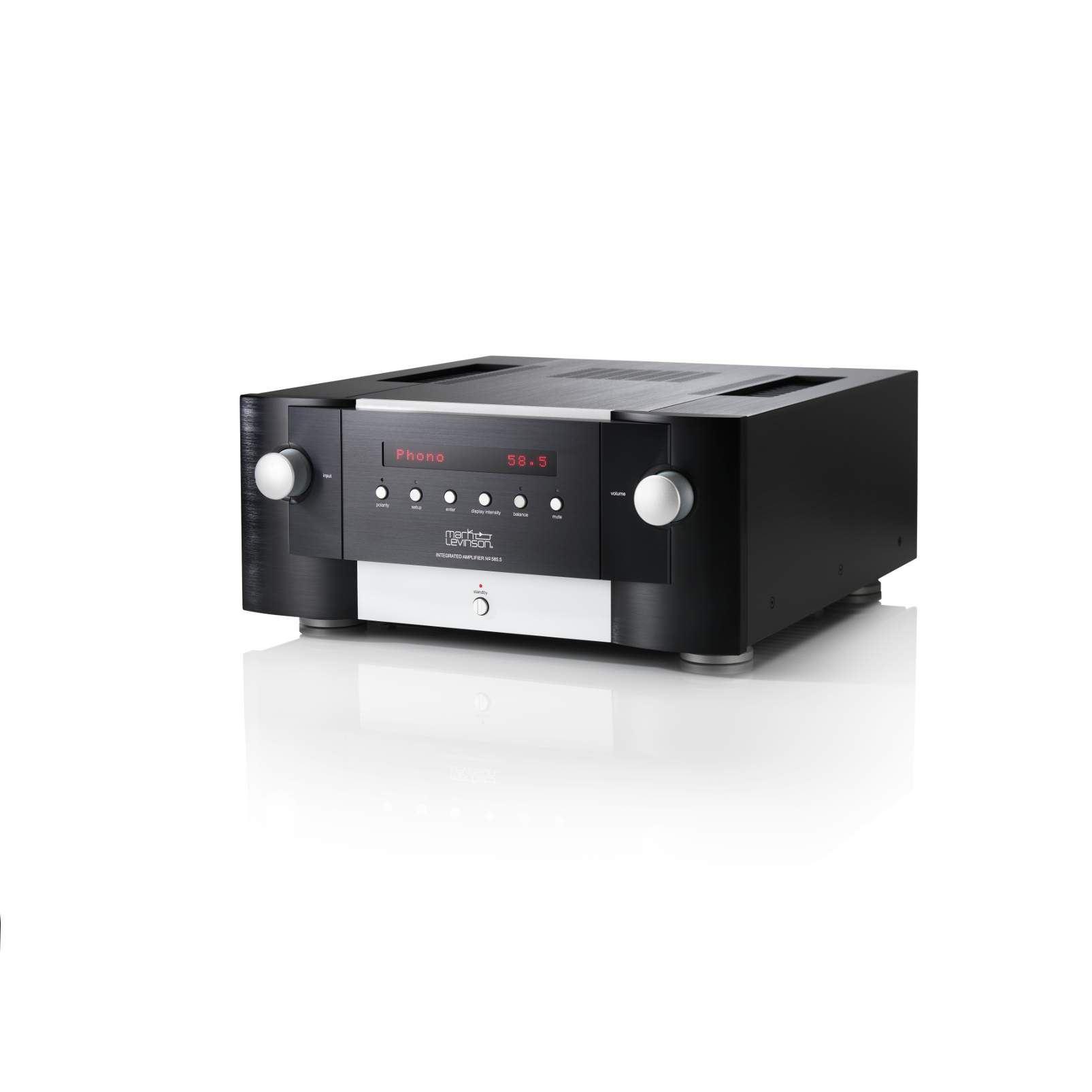 Nº585.5 - Black - Fully Discrete Integrated Amplifier with Class A Pure Phono Stage - Hero
